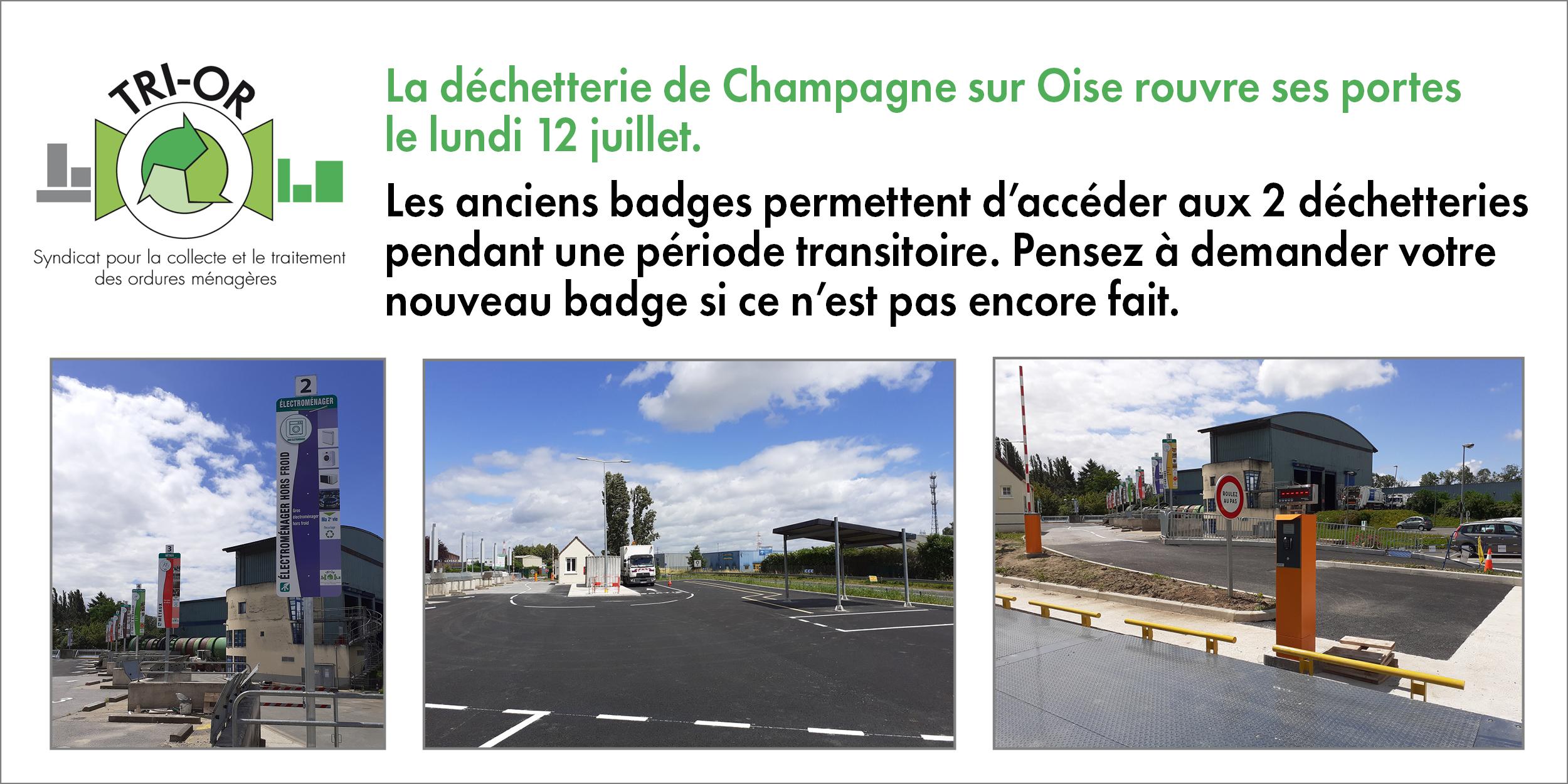 reouverture dechetterie de Champagne 12072021